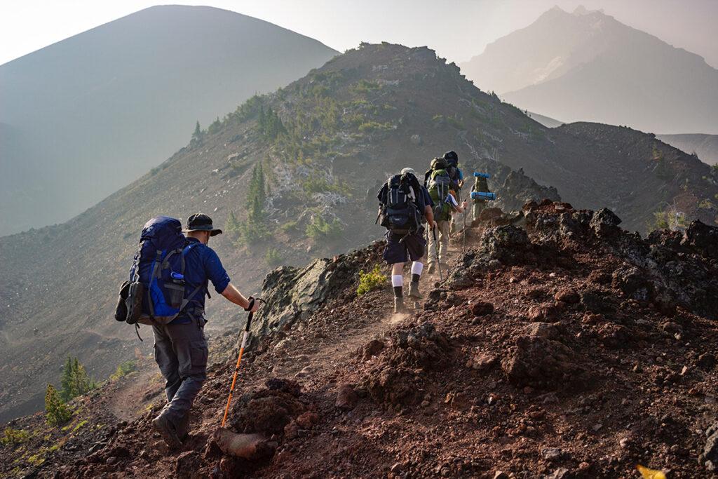 Nehéz hegyi túraútvonal